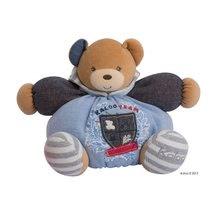 Plyšové medvede - Plyšový medvedík Blue Denim-Chubby Bear Kaloo s hrkálkou 30 cm v darčekovom balení pre najmenších modrý_7