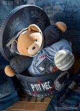 Plyšové medvede - Plyšový medvedík Blue Denim-Chubby Bear Kaloo s hrkálkou 30 cm v darčekovom balení pre najmenších modrý_3