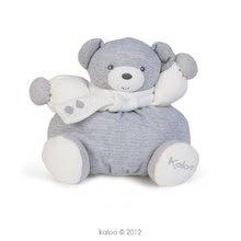 Plyšové medvede - Plyšový medvedík Zen-Chubby Bear Kaloo so šálom 25 cm v darčekovom balení pre najmenších sivý_1