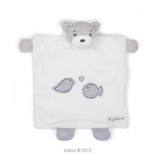 Plyšový medvedík bábkové divadlo Zen-Doudou Kaloo bábka 20 cm v darčekovom balení pre najmenších biely