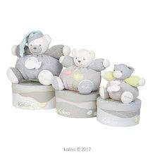 Plyšové medvede - Plyšový medvedík Zen-Chubby Bear Kaloo s hrkálkou 30 cm v darčekovom balení pre najmenších šedý_1