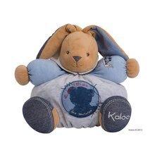 Plyšový králíček Blue Denim-Chubby Rabbit Kaloo s chrastítkem 30 cm v dárkovém balení pro nejmenší modrý