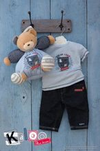 Plyšové medvede - Plyšový medvedík Blue Denim-Chubby Bear Kaloo s hrkálkou 30 cm v darčekovom balení pre najmenších modrý_2