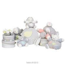 Hračky pre bábätká - Plyšový zajačik Zen-Chubby Rabbit Kaloo s hrkálkou 30 cm v darčekovom balení pre najmenších šedý_3