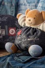 Plyšové medvede - Plyšový medvedík Blue Denim-Happy Chubby Bear Kaloo 25 cm v darčekovom balení pre najmenších_2