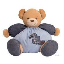 KALOO 960068 modrý plyšový medvedík Blue Denim-Maxi Chubby Bear pre najmenšie deti