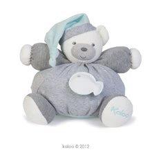 Plyšový medvedík Zen-Chubby Bear Kaloo s hrkálkou 30 cm v darčekovom balení pre najmenších šedý