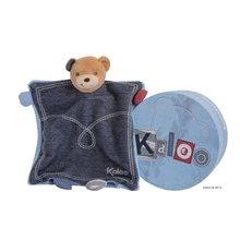 Hračky na maznanie a usínanie - Plyšový medvedík bábkové divadlo Blue Denim-Doudou Kaloo 18 cm v darčekovom balení pre najmenších modrý_0