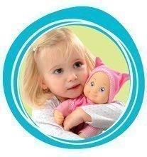 Bábiky s doplnkami sety - Set bábika Minikiss Smoby 27 cm, jedálenská stolička, kolíska s baldachýnom a kočík pre bábiku (53,5 cm rúčka) od 18 mes_1