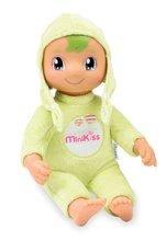 SMOBY 210107 MiniKiss jemne zelená bábika DouDou na maznanie so zvukom a svetlom v ušianke 27 cm vysoká od 12 mesiacov
