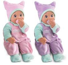 Păpuşi de jucărie cu suzetă Minikiss Smoby 27 cm cu sunet roz şi mov