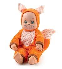 Bábiky od 9 mesiacov - Bábika v kostýme zvieratká Animal Doll Minikiss Smoby 27 cm so zvukom 3 druhy Líška Zajac Srnček od 12 mes_0