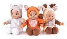Sada 3 bábik v kostýmoch Mini Animal Doll MiniKiss Smoby 20 cm Líška Zajac a Srnka od 12 mes