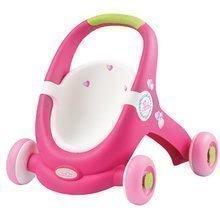 Detské chodítka - Chodítko a kočiarik pre bábiku 2v1 MiniKiss Smoby s brzdou od 12 mes_1
