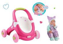 Set kočárek pro panenku a chodítko 2v1 MiniKiss Smoby a panenka se zvukem MiniKiss v ušance