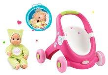 SMOBY 160180-2  járássegítő és játék babakocsi Minnie+zöld baba hanggal és fényekkel DouDou MiniKiss