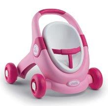 Dětská chodítka - Set chodítko a kočárek pro panenku 3v1 MiniKiss Smoby s pečovatelským pultem se židlí a kolébka s vaničkou_1