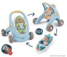 Dětská chodítka - Chodítko a kočárek pro panenku Croc Baby Walker MiniKiss 3in1 Smoby s brzdou a bezpečnostním pásem od 12 měsíců_0