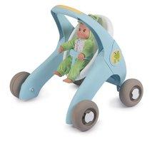Dětská chodítka - Chodítko a kočárek pro panenku Croc Baby Walker MiniKiss 3in1 Smoby s brzdou a bezpečnostním pásem od 12 měsíců_4