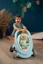 Dětská chodítka - Chodítko a kočárek pro panenku Croc Baby Walker MiniKiss 3in1 Smoby s brzdou a bezpečnostním pásem od 12 měsíců_6