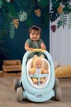 Dětská chodítka - Chodítko a kočárek pro panenku Croc Baby Walker MiniKiss 3in1 Smoby s brzdou a bezpečnostním pásem od 12 měsíců_10