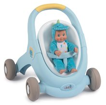 Dětská chodítka - Chodítko a kočárek pro panenku Croc Baby Walker MiniKiss 3in1 Smoby s brzdou a bezpečnostním pásem od 12 měsíců_14