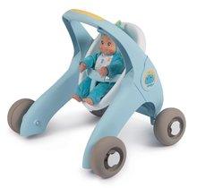 Dětská chodítka - Chodítko a kočárek pro panenku Croc Baby Walker MiniKiss 3in1 Smoby s brzdou a bezpečnostním pásem od 12 měsíců_15