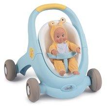 Dětská chodítka - Chodítko a kočárek pro panenku Croc Baby Walker MiniKiss 3in1 Smoby s brzdou a bezpečnostním pásem od 12 měsíců_17