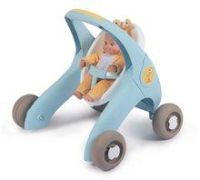 Dětská chodítka - Chodítko a kočárek pro panenku Croc Baby Walker MiniKiss 3in1 Smoby s brzdou a bezpečnostním pásem od 12 měsíců_18