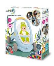 Dětská chodítka - Chodítko a kočárek pro panenku Croc Baby Walker MiniKiss 3in1 Smoby s brzdou a bezpečnostním pásem od 12 měsíců_20