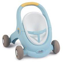 Dětská chodítka - Chodítko a kočárek pro panenku Croc Baby Walker MiniKiss 3in1 Smoby s brzdou a bezpečnostním pásem od 12 měsíců_21