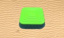 Pieskoviská pre deti - Pieskovisko Starplast štvorcové s krytom objem 60 litrov zelené od 24 mes_3
