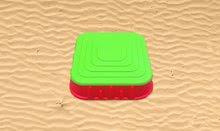 Pieskoviská pre deti - Pieskovisko Starplast štvorcové s krytom objem 60 litrov červeno-zelené od 24 mes_0