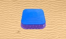 Pieskoviská pre deti - Pieskovisko Starplast štvorcové s krytom objem 60 litrov fialovo-modré od 24 mes_0