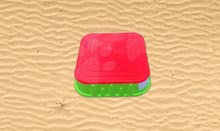 Pieskoviská pre deti - Pieskovisko Starplast štvorcové s krytom objem 60 litrov zeleno-červené od 24 mes_2