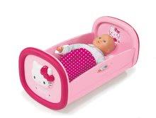 Kolíska pre bábiku do 42 cm Hello Kitty Smoby tmavoružová od 18 mes