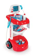 Smoby 24475 zvukový lekársky vozík s tlakomerom + 12 doplnkov od 3 rokov