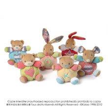 Plyšové zajace - Plyšový zajačik Bliss-Mini Chubbies Kaloo 12 cm pre najmenších červený_1