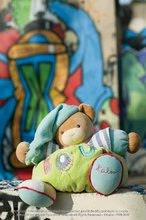 Plyšové medvede - Plyšový medvedík Bliss-Chubby Bear Kaloo s hrkálkou 30 cm v darčekovom balení pre najmenších modro-zelený_2