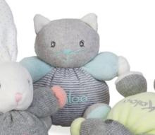 Plyšová mačička Zen-Mini Chubbies Kaloo 12 cm pre najmenších pásikavá
