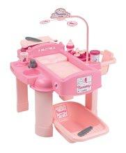 Prebaľovací stolík pre bábiku Nursery Écoiffier s kuchynkou a kúpeľňou od 18 mesiacov s 22 doplnkami ružový