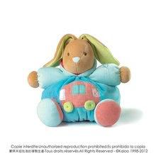 Plyšový zajačik Bliss-Chubby Rabbit Kaloo 25 cm v darčekovom balení pre najmenších modrý