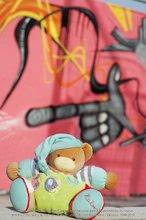 Plyšové medvede - Plyšový medvedík Bliss-Chubby Bear Kaloo s hrkálkou 30 cm v darčekovom balení pre najmenších modro-zelený_0