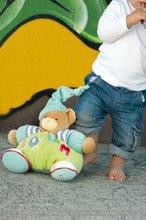 Plyšové medvede - Plyšový medvedík Bliss-Chubby Bear Kaloo s hrkálkou 30 cm v darčekovom balení pre najmenších modro-zelený_1