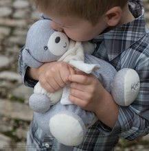 Plyšové medvede - Plyšový medvedík Zen-Chubby Bear Kaloo so šálom 25 cm v darčekovom balení pre najmenších sivý_6