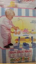 Domčeky pre bábiky - Prebaľovací stôl pre bábiku Nursery Écoiffier s kuchynkou s 24 doplnkami modro-biely od 18 mes_0