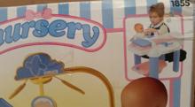 Domčeky pre bábiky sety - Prebaľovací stolík pre bábiku Nursery Écoiffier s kuchynským kútikom modro-ružový od 18 mes_1