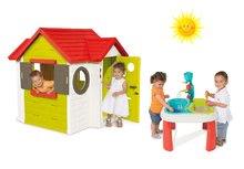 Set domček My House Smoby s elektronickým zvončekom a detský stôl Voda&Piesok od 2 rokov