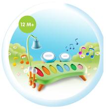 Hračky zvukové - Hudební xylofon Cotoons Smoby s bubny a zvonkem od 12 měsíců_5