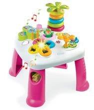 Didaktický stolík Cotoons Smoby s funkciami, so svetlom a zvukom ružový od 12 mes